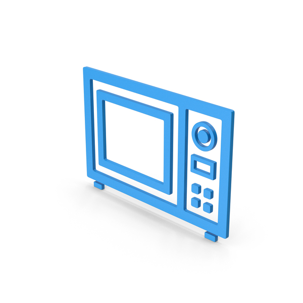 Symbol Microwave Oven Blue PNG & PSD Images
