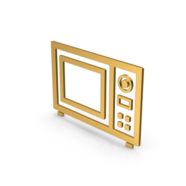 Symbol Microwave Oven Gold PNG & PSD Images
