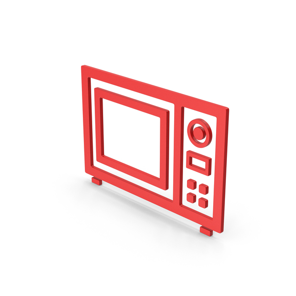 Symbol Microwave Oven Red PNG & PSD Images
