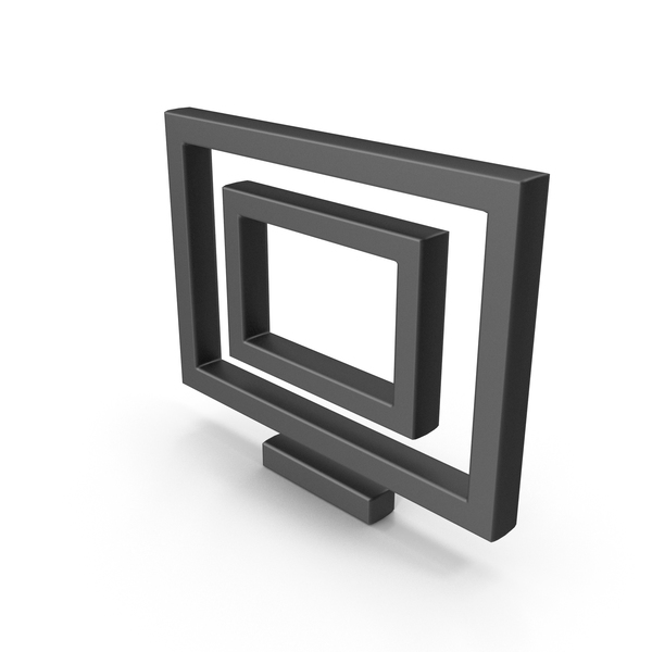 Symbol Monitor Black PNG & PSD Images