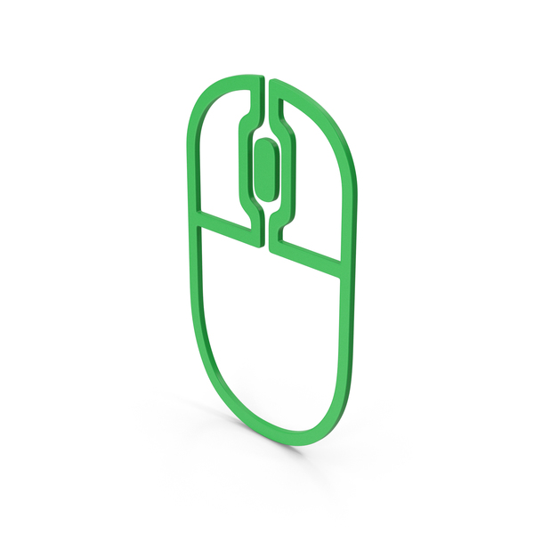 Computer Icon: Symbol Mouse Green PNG & PSD Images