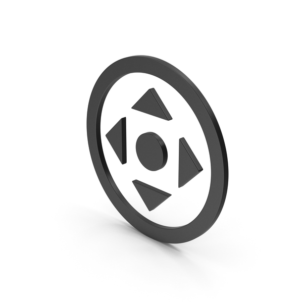 Directional Arrow: Symbol Move Button Black PNG & PSD Images