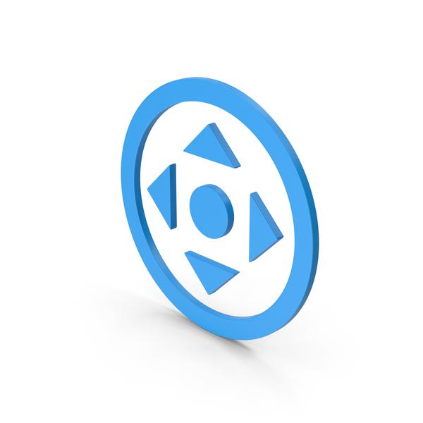 Directional Arrow: Symbol Move Button Blue PNG & PSD Images