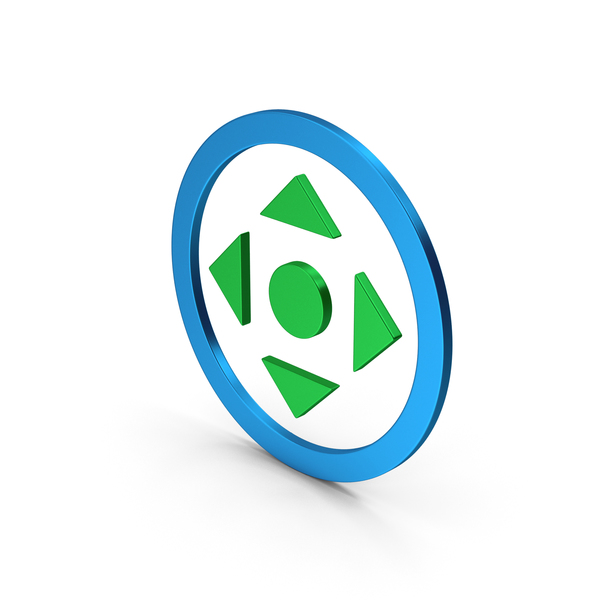 Directional Arrow: Symbol Move Button Colored Metallic PNG & PSD Images