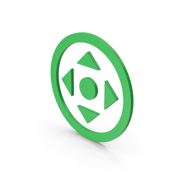 Directional Arrow: Symbol Move Button Green PNG & PSD Images