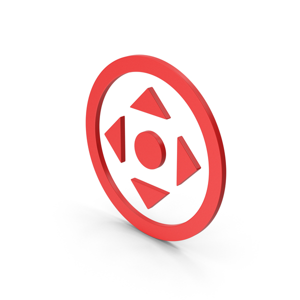 Directional Arrow: Symbol Move Button Red PNG & PSD Images