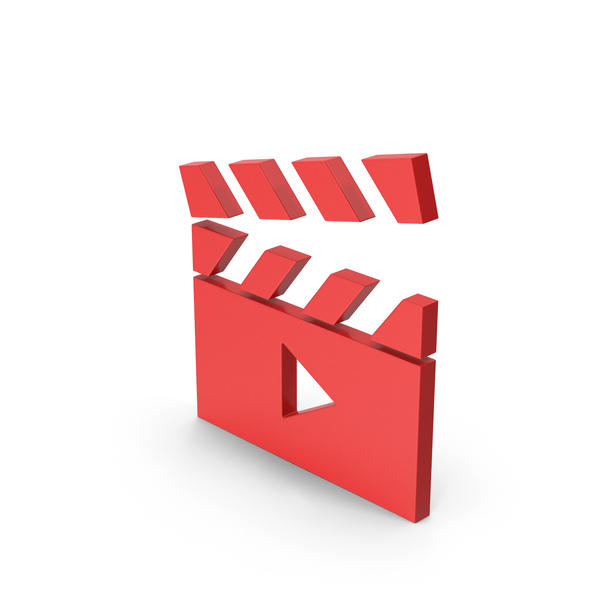 Clapperboard: Symbol Movie Red PNG & PSD Images