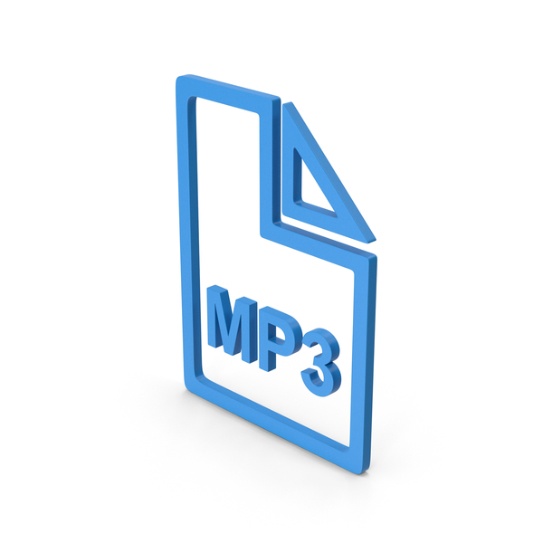 Computer Icon: Symbol MP3 File Blue PNG & PSD Images