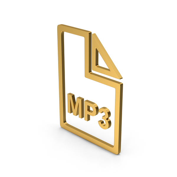 Computer Icon: Symbol MP3 File Gold PNG & PSD Images