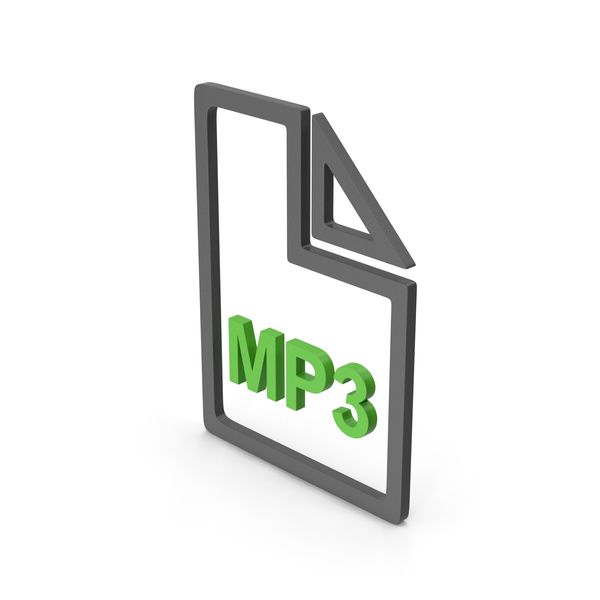 Computer Icon: Symbol MP3 File Green PNG & PSD Images