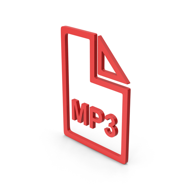 Computer Icon: Symbol MP3 File Red PNG & PSD Images