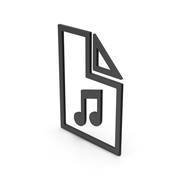 Computer Icon: Symbol Music File Black PNG & PSD Images