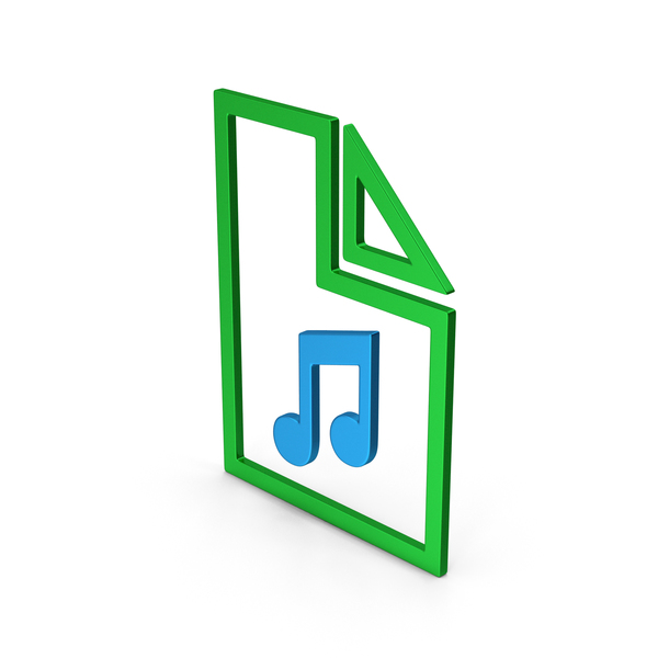 Computer Icon: Symbol Music File Colored Metallic PNG & PSD Images
