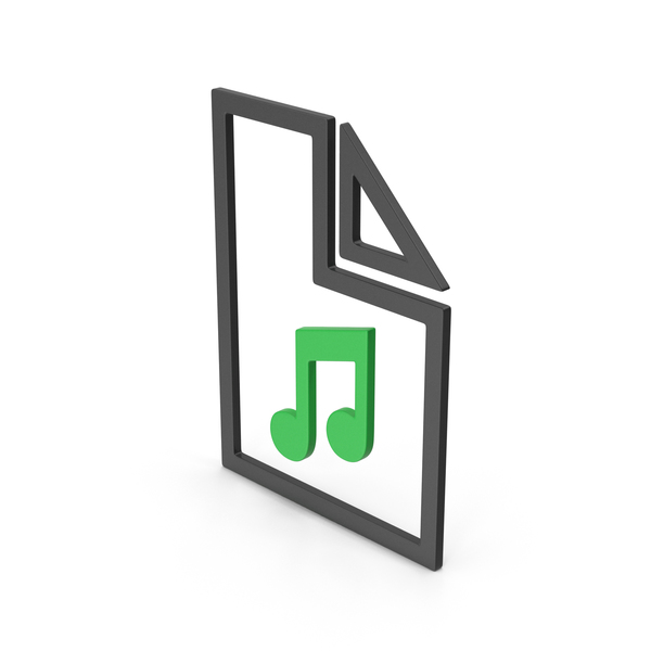 Computer Icon: Symbol Music File Green PNG & PSD Images