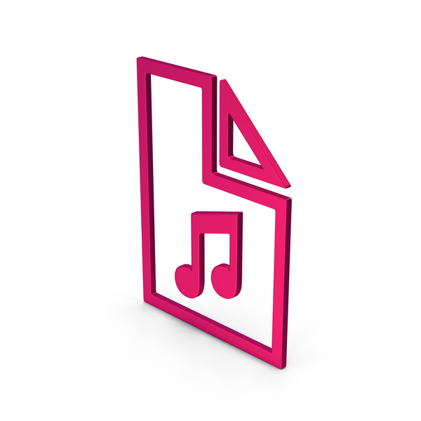 Computer Icon: Symbol Music File Metallic PNG & PSD Images