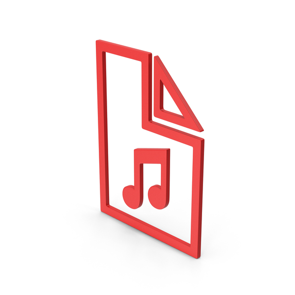 Computer Icon: Symbol Music File Red PNG & PSD Images