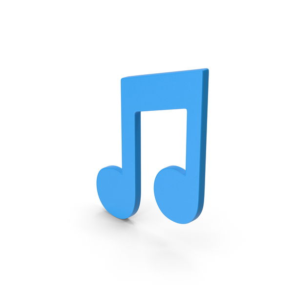 Musical: Symbol Music Note Blue PNG & PSD Images