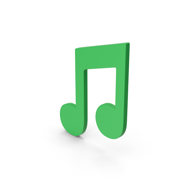 Musical: Symbol Music Note Green PNG & PSD Images