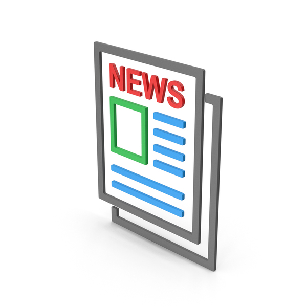 Computer Icon: Symbol Newspaper Colored PNG & PSD Images
