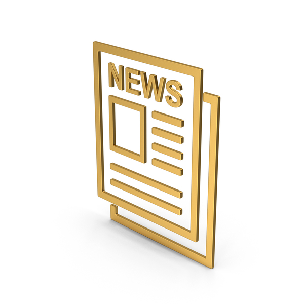 Computer Icon: Symbol Newspaper Gold PNG & PSD Images