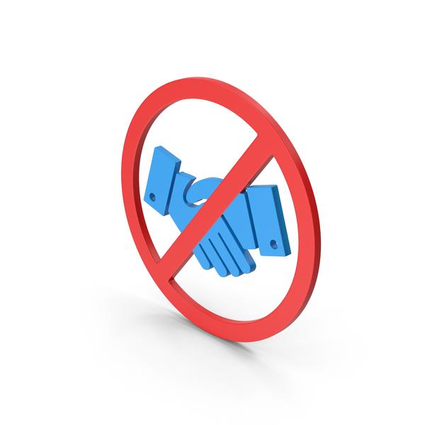 Computer Icon: Symbol No Handshake Blue PNG & PSD Images