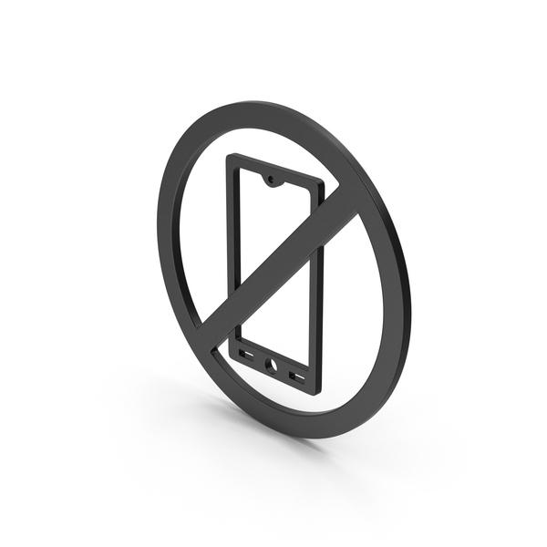 Logo: Symbol No Mobile Black PNG & PSD Images
