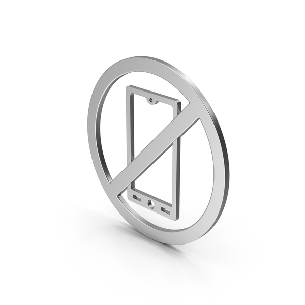 Computer Icon: Symbol No Mobile Silver PNG & PSD Images