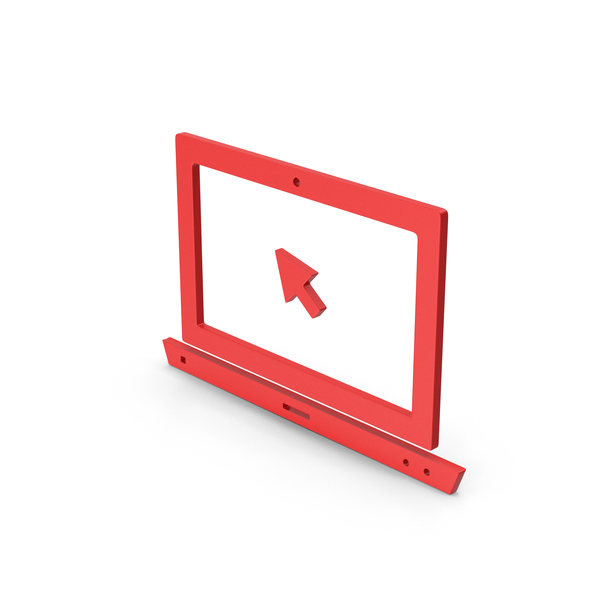 Industrial Equipment: Symbol Notebook With Mouse Cursor Red PNG & PSD Images