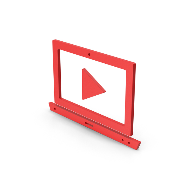 Industrial Equipment: Symbol Notebook With Play Button Red PNG & PSD Images