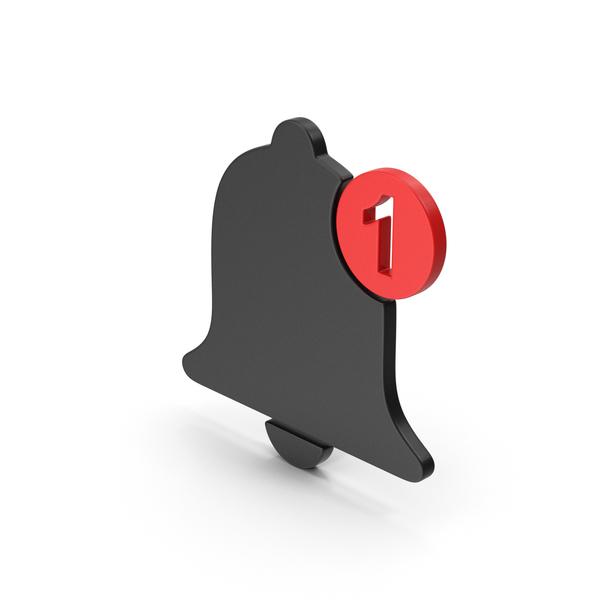 Logo: Symbol Notification Black Red PNG & PSD Images