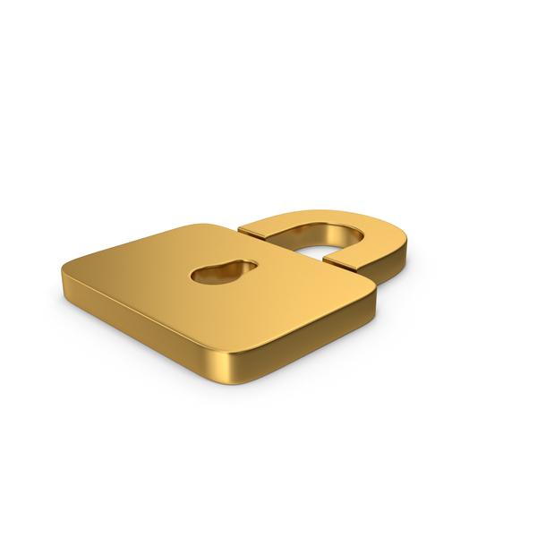 Symbol Padlock Gold PNG & PSD Images