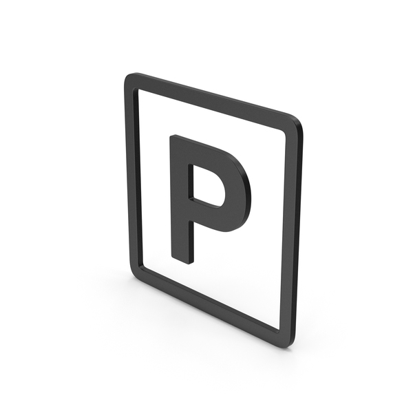 Traffic Signs: Symbol Parking Black PNG & PSD Images