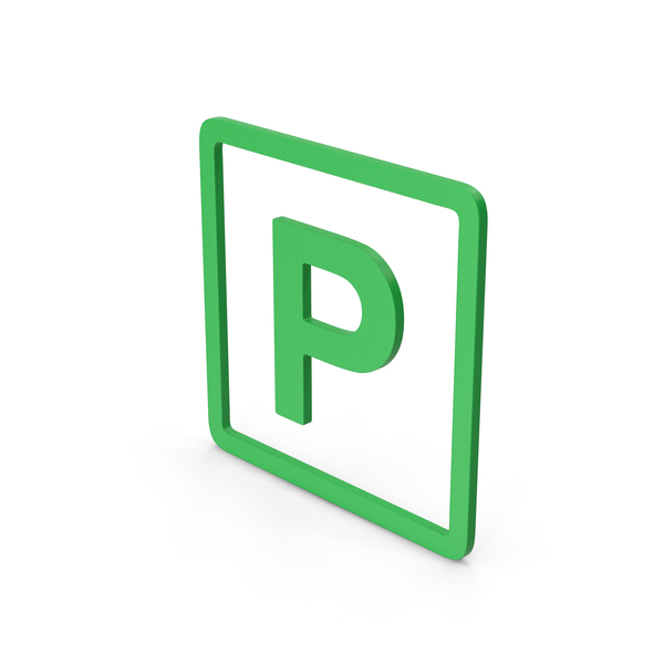 Traffic Signs: Symbol Parking Green PNG & PSD Images