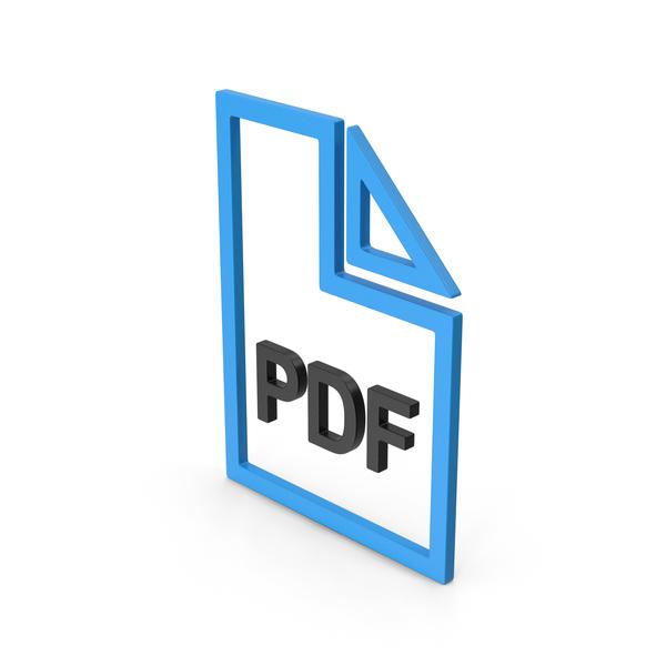 Symbol PDF File Blue PNG & PSD Images