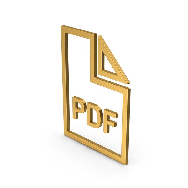 Holder: Symbol PDF File Gold PNG & PSD Images