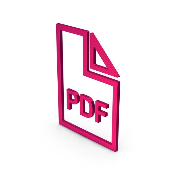 Symbol PDF File Metallic PNG & PSD Images
