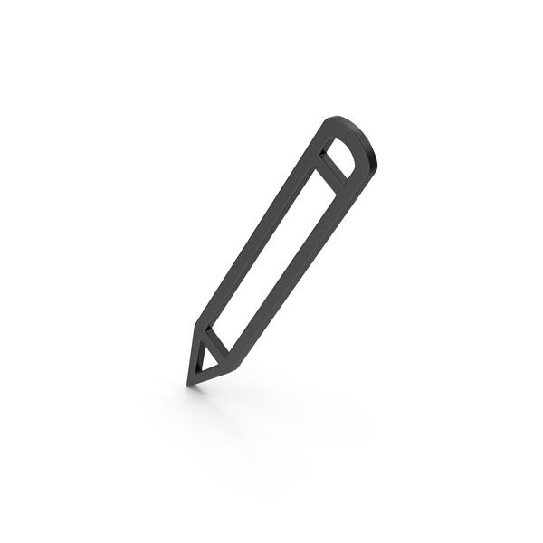 Computer Icon: Symbol Pencil Black PNG & PSD Images
