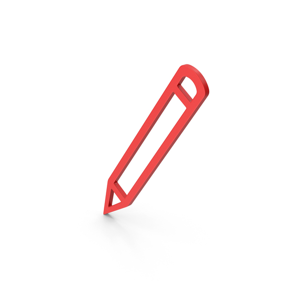 Computer Icon: Symbol Pencil Red PNG & PSD Images