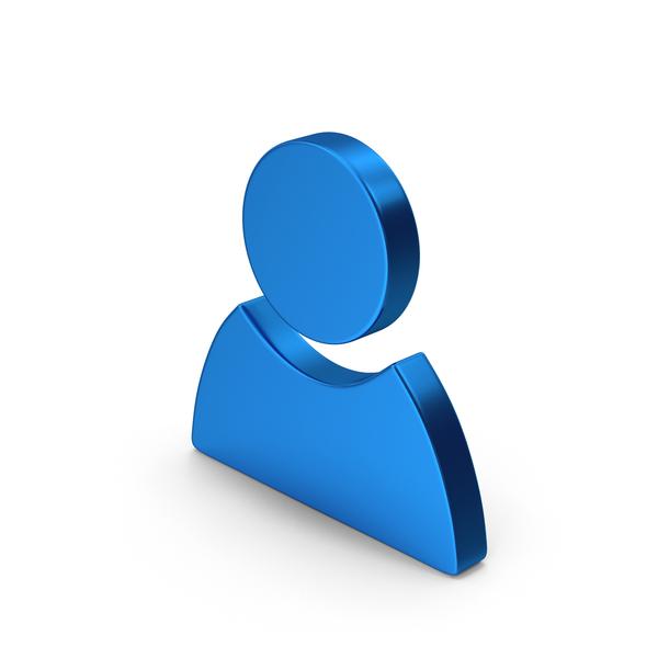 Logo: Symbol People Blue Metallic PNG & PSD Images