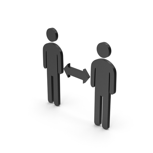 Computer Icon: Symbol People Connection Black PNG & PSD Images