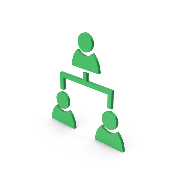 Computer Icon: Symbol People Connection Green PNG & PSD Images