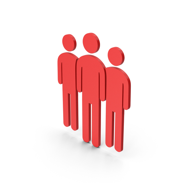 Silhouette: Symbol People Group Red PNG & PSD Images