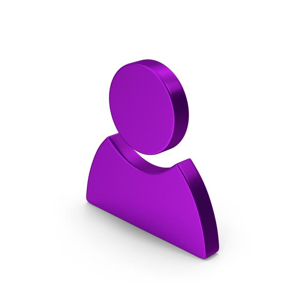 Logo: Symbol People Purple Metallic PNG & PSD Images