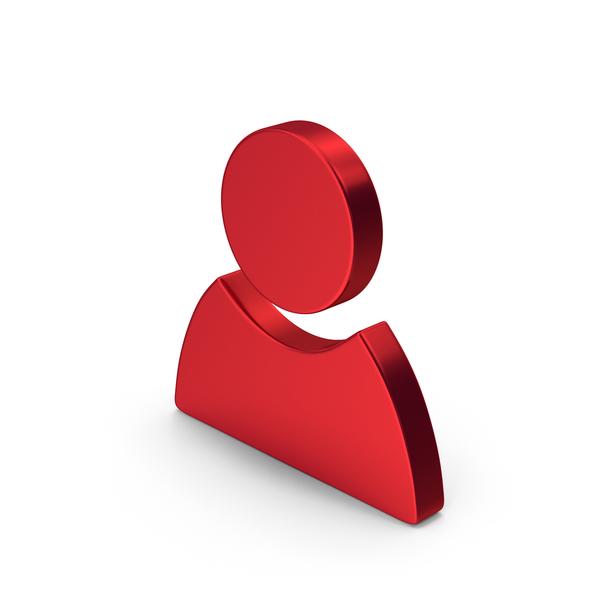 Logo: Symbol People Red Metallic PNG & PSD Images
