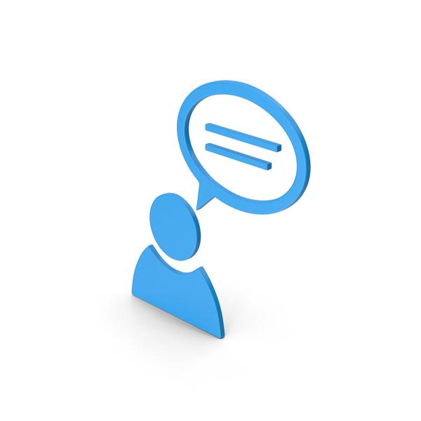 Logo: Symbol People Talking Blue PNG & PSD Images