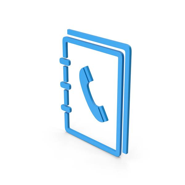 Logo: Symbol Phone Book Blue PNG & PSD Images