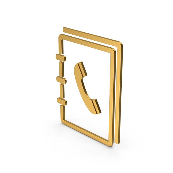 Logo: Symbol Phone Book Gold PNG & PSD Images