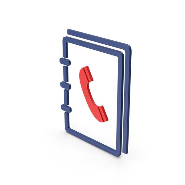 Logo: Symbol Phone Book Red PNG & PSD Images