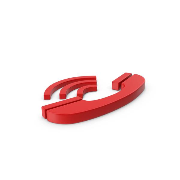 Logo: Symbol Phone Red PNG & PSD Images
