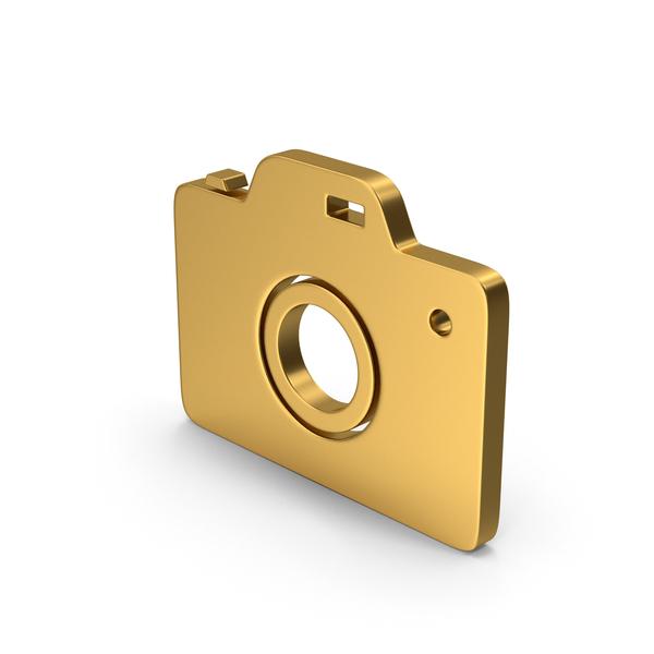 Logo: Symbol Photo Camera Gold PNG & PSD Images